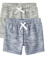 Baby And Toddler Boys French Terry Shorts 2-Pack