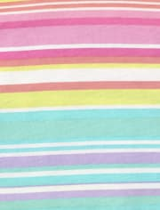 Baby And Toddler Girls Rainbow Striped Tank Dress