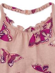 Toddler Girls Butterfly Halter 3-Piece Set