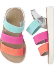 Toddler Girls Colorblock Elastic Sandals