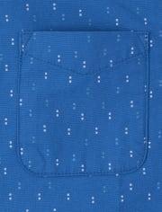 Baby And Toddler Boys Print Poplin Button Down Shirt