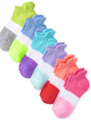 Girls Colorblock Cushioned Ankle Socks 6-Pack