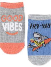 Toddler Boys Shark Ankle Socks 6-Pack