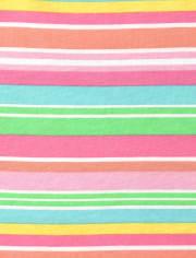 Toddler Girls Rainbow Striped 2-Piece Set