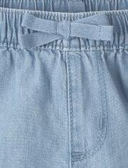 Paquete de 3 pantalones cortos sin tirantes para niñas pequeñas