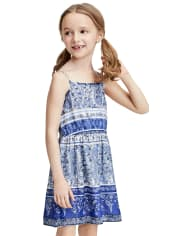 Baby And Toddler Girls Mommy And Me Floral Border Dress