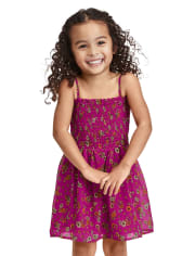 Baby And Toddler Girls Mommy And Me Floral Smocked Dress