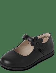 Toddler Girls Uniform Comfort Flex Shoes