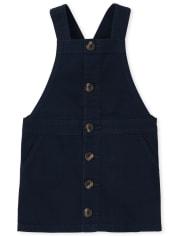 Falda de sarga de uniforme para niñas pequeñas