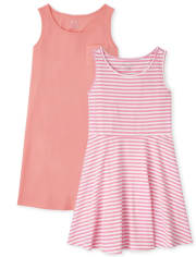 Girls Tank Dress 2-Pack