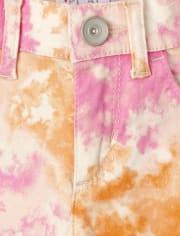 Girls Tie Dye Twill Skimmer Shorts