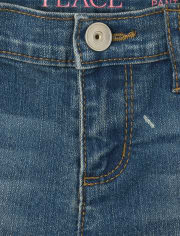 Girls Paint Splatter Denim Skimmer Shorts