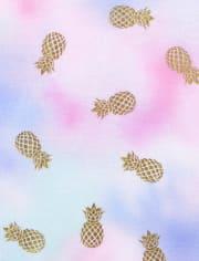 Girls Pineapple Tie Dye Pajamas