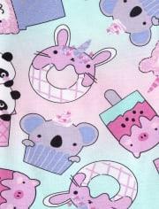 Girls Squishies Snug Fit Cotton Pajamas