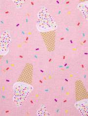 Girls Ice Cream Rainbow Snug Fit Cotton Pajamas 2-Pack