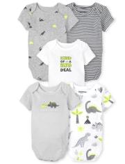 Baby Boys Dino Bodysuit 5-Pack