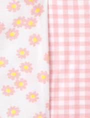 Baby Girls Daisy Bodysuit 5-Pack