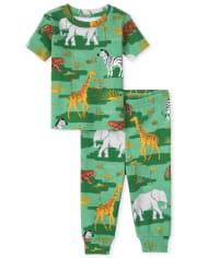 Unisex Baby And Toddler Camo Animal Snug Fit Cotton Pajamas