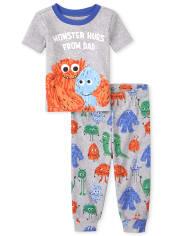 Baby And Toddler Boys Monster Hugs Snug Fit Cotton Pajamas