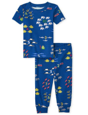 Baby And Toddler Boys Counting Snug Fit Cotton Pajamas