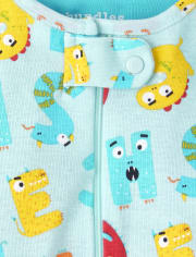Unisex Baby And Toddler ABC Striped Snug Fit Cotton One Piece Pajamas 2-Pack
