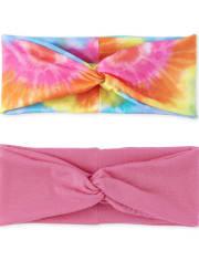 Toddler Girls Tie Dye Turban Headwrap 2-Pack