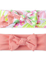 Baby Girls Tropical Bow Headwrap 2-Pack