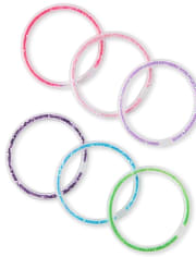 Girls Shakey Bangle Bracelet 6-Pack