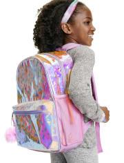 Girls Unicorn Holographic Backpack
