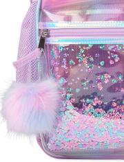 Girls Shakey Heart Rainbow Backpack