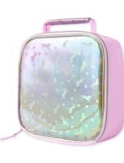 Girls Unicorn Holographic Lunch Box
