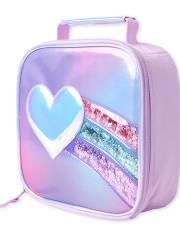 Girls Shakey Heart Rainbow Lunch Box