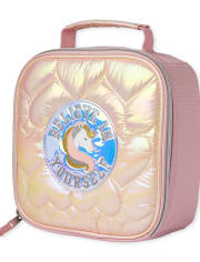 Girls Quilted Heart Unicorn Lunch Box