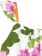 Baby Girls Floral Ruffle Bodysuit Dress 3-Pack