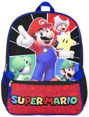 Set de mochila y fiambrera Mario para niños