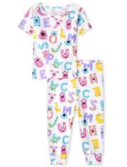 Baby And Toddler Girls ABC Snug Fit Cotton Pajamas