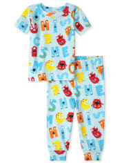 Unisex Baby And Toddler ABC Snug Fit Cotton Pajamas
