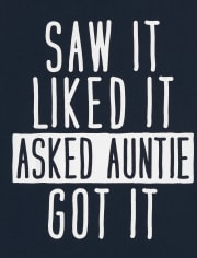 Baby And Toddler Boys Auntie Graphic Tee