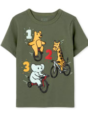 Baby And Toddler Boys 123 Animals Graphic Tee