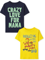 Toddler Boys Family Graphic Tee 2-Pack