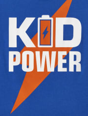 Baby And Toddler Boys Kid Power Graphic Tee
