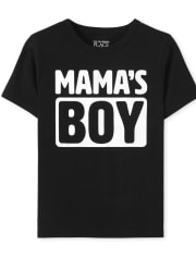 Baby And Toddler Boys Mama's Boy Graphic Tee