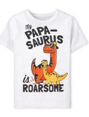 Baby And Toddler Boys Papa-Saurus Graphic Tee