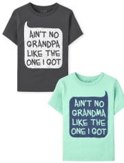 Toddler Boys Grandparents Graphic Tee 2-Pack