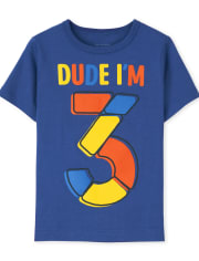 Baby And Toddler Boys I'm 3 Birthday Graphic Tee