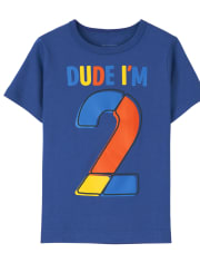 Baby And Toddler Boys I'm 2 Birthday Graphic Tee