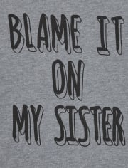 Baby And Toddler Boys Blame My Sister Graphic Tee