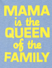Baby And Toddler Boys Mama Is Queen Graphic Tee