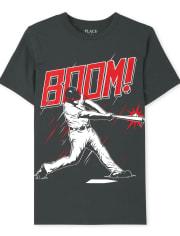 Boys Boom Baseball Graphic Tee
