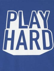 Boys Dad And Me Play Hard Graphic Tee